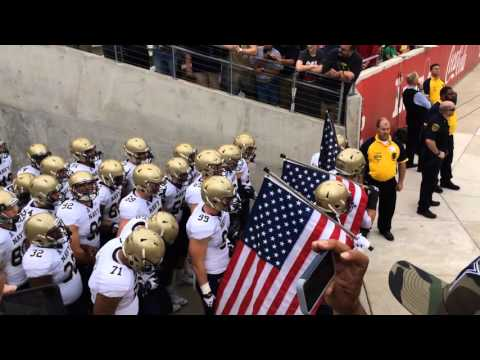 Navy Midshipmen Football Team Entering The Field Houston 2015
