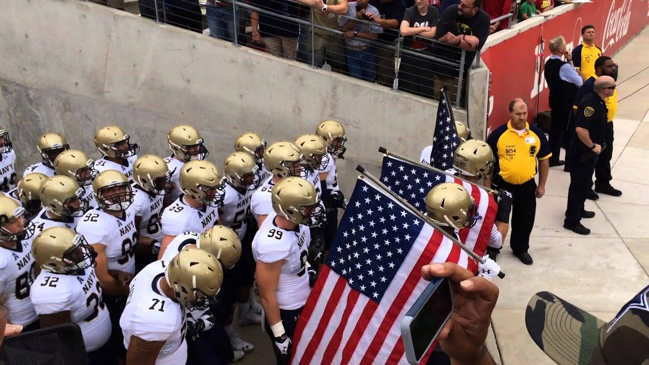 Navy Midshipmen Football Team Entering The Field Houston 2015 Youtube