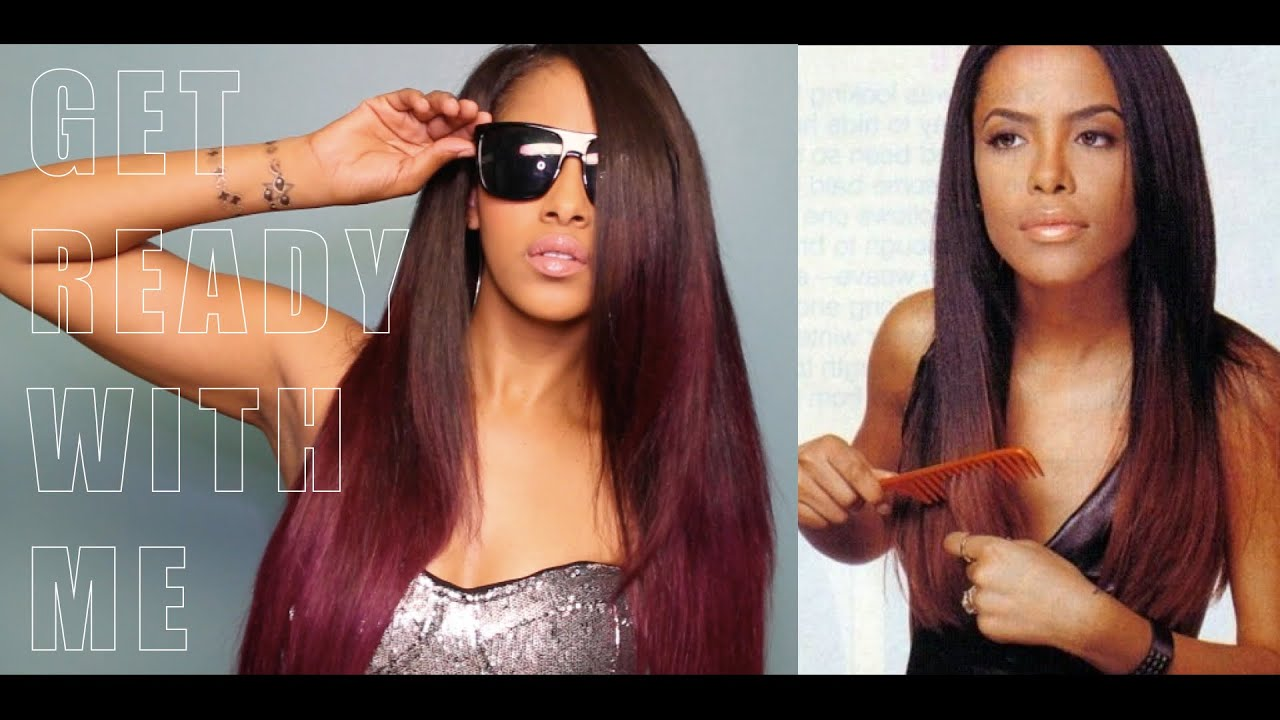 Get Ready With Me Sleek Amp Sexy Aaliyah Inspired Hair And