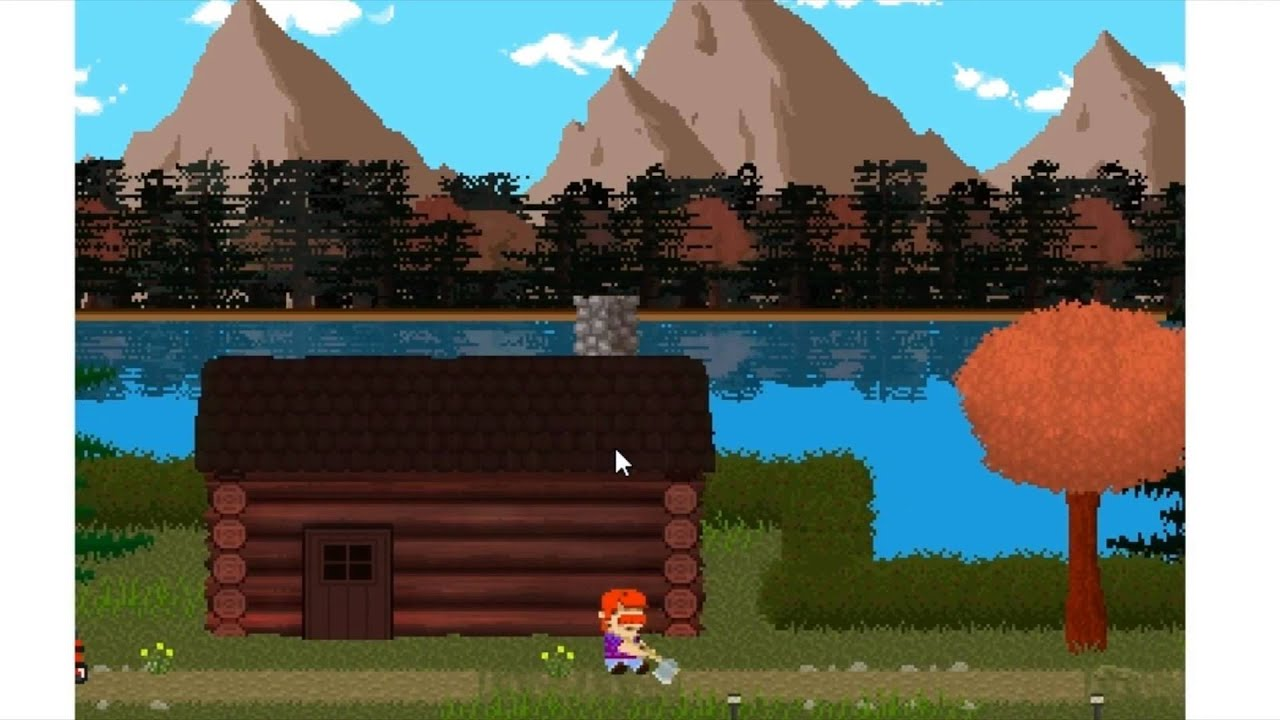LakeView Cabin  Indie Horror Game  The Axe Swinging Game