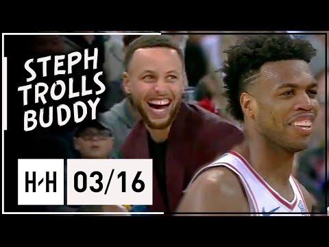 Buddy Hield Full Highlights Kings vs Warriors (2018.03.16) - 22 Pts, 7 Ast, Curry Trolls!