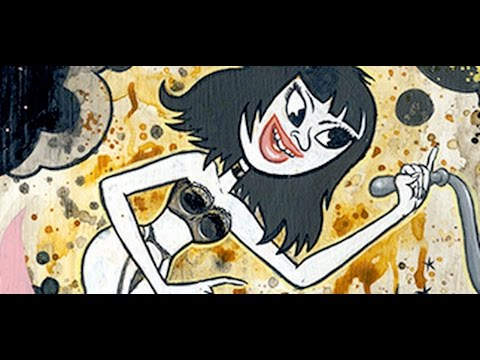CARTOON COLITIS TIME LAPSE PAINTING-THE BLAB SHOW-COPRO GALLERY