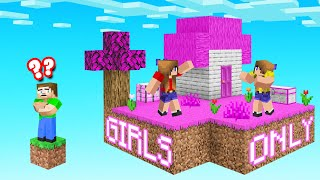 We FOUND A GIRLS ONLY SKYBLOCK! (Minecraft)