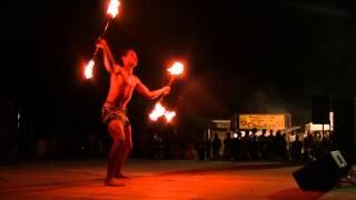 Samoan Fire Knife Dancer Jeurell Lavatai