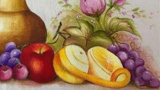 Aprenda a Pintar Laranja e Uva em Tecido