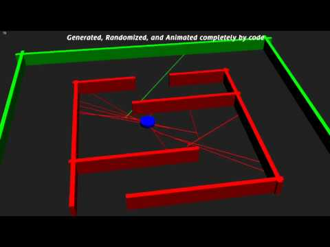 Roomba - raytracing search algorithm