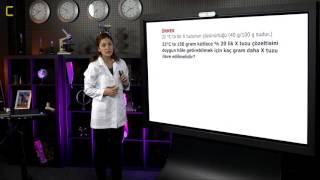 YGS Kimya - Çözünürlük ve Kütlece Yüzde Derişim