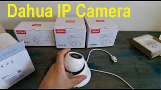 Unboxing of Dahua IP Cameras Dome and Bullet HDW1320 & HFW4421