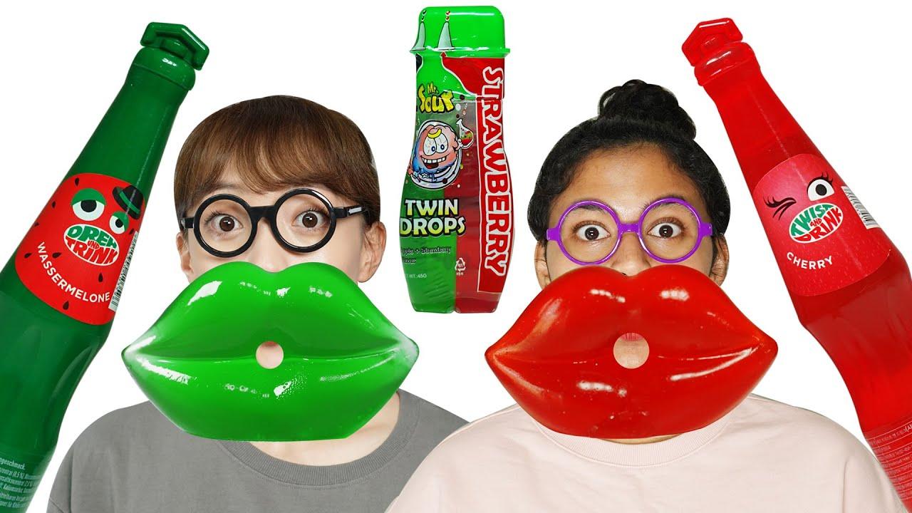 빨강 초록 Red Green RooRoo Lip Jelly 루루립젤리 ZOANA Mukbang 먹방