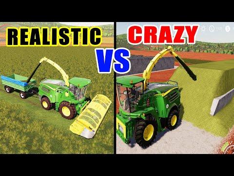 Farming Simulator 19: REALISTIC VS CRAZY FARMER!!! EASY SILO FILLING!