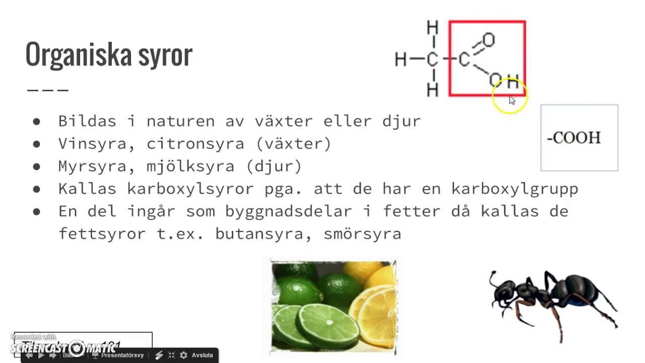 vinsyra vs citronsyra