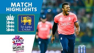 Classy Buttler 66* Sets Up England Win | ICC #Men's WT20 2016 - Sri Lanka vs England - Highlights