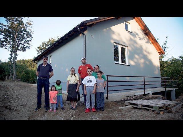 Izgradnja kuće porodici Ristić iz sela Bratilovce kod Kosovske Kamenice - Srbi za Srbe