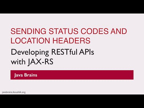 REST Web Services 26 - Sending Status Codes and Location Headers