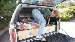 I've been living in my truck for two weeks