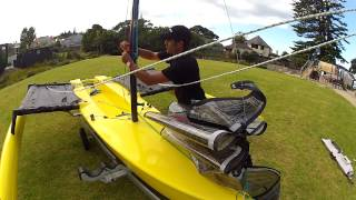 How to Rig a Weta Trimaran