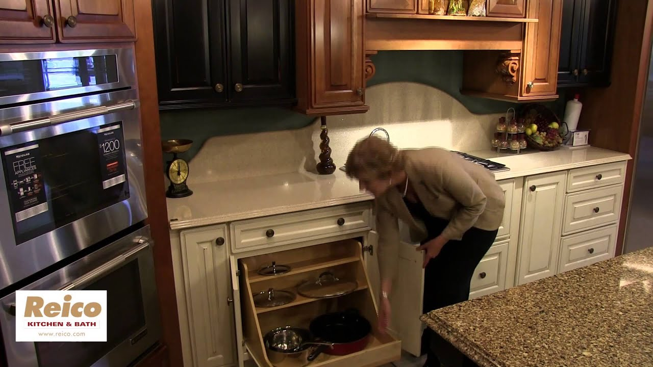 Kitchen Cabinet Accessory Ideas: Storing Pots and Pans - YouTube