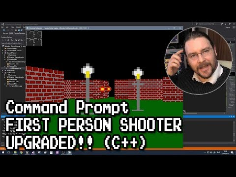 Upgraded! First Person Shooter at Command Prompt (C++)