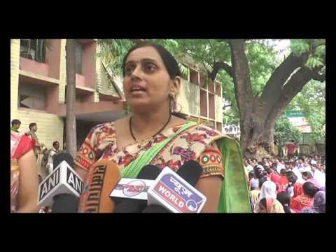 Shiksha Mitra protest in Hamirpur