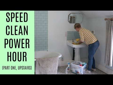Speed cleaning power hour (upstairs) | Mrs Rachel Brady | UK stay at home mum / mom