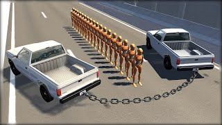 CHAINED UP #4 - Giant Chain Crashes - BeamNG.Drive Crashes