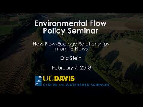 How Flow-Ecology Relationships inform E-Flows