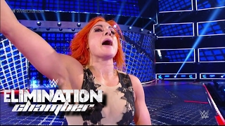 WWE ELIMINATION CHAMBER 2017 BECKY LYNCH VS MICKIE JAMES RESULT! #WWEChamber