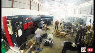 Máy cắt tôn CNC, máy chấn tôn CNC, máy đột dập CNC hãng LFK - HongKong