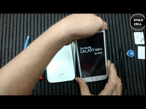 Samsung Galaxy Mega 9152 troca do touch como desmontar, exchange of touch how to disassemble