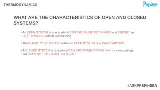 Characteristics of Open & Closed Thermodynamic Systems [FE Exam]