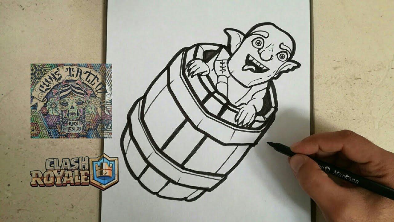 Dibujos Para Dibujar De Clash Royale: COMO DIBUJAR EL BARRIL CON DUENDES