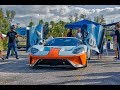 2019 Ford GT Heritage Edition Gulf Livery and More Supercars Drive by at Cars & Coffee Key Biscayne