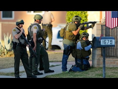 San Bernardino suspects: Police search Redlands residence believed to be shooter's home - TomoNews