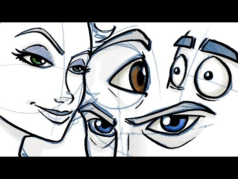 How To Draw Eyes For Comic And Cartoon Characters Youtube