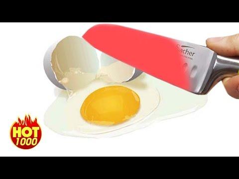 1000 Degree Knife vs  Banana - Egg -  Beer
