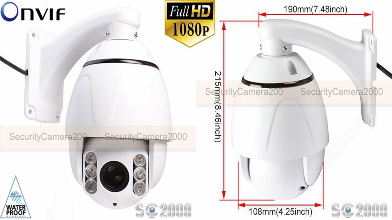 62872f4ca34 4 Inch 2MP 10X Zoom IR ONVIF P2P Outdoor High Speed PTZ IP Camera - YouTube
