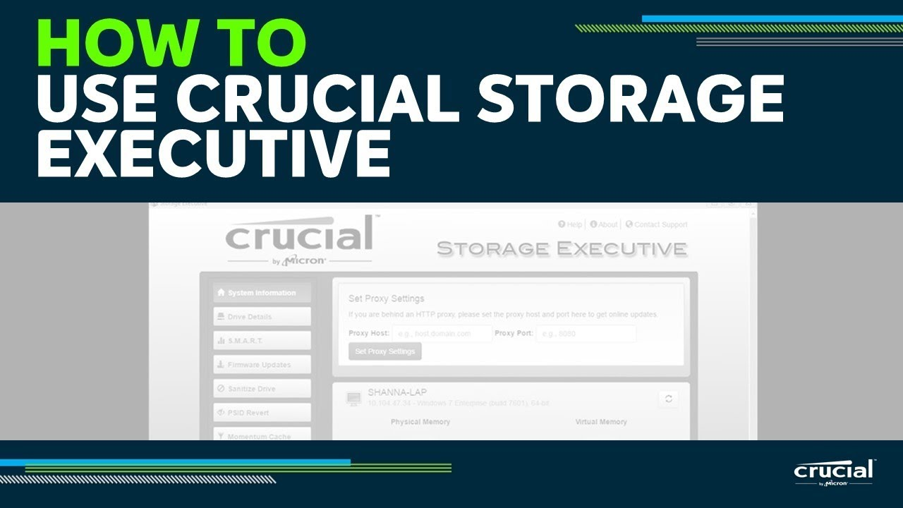 Crucial Storage Executive Tool | Firmware Download | Crucial com