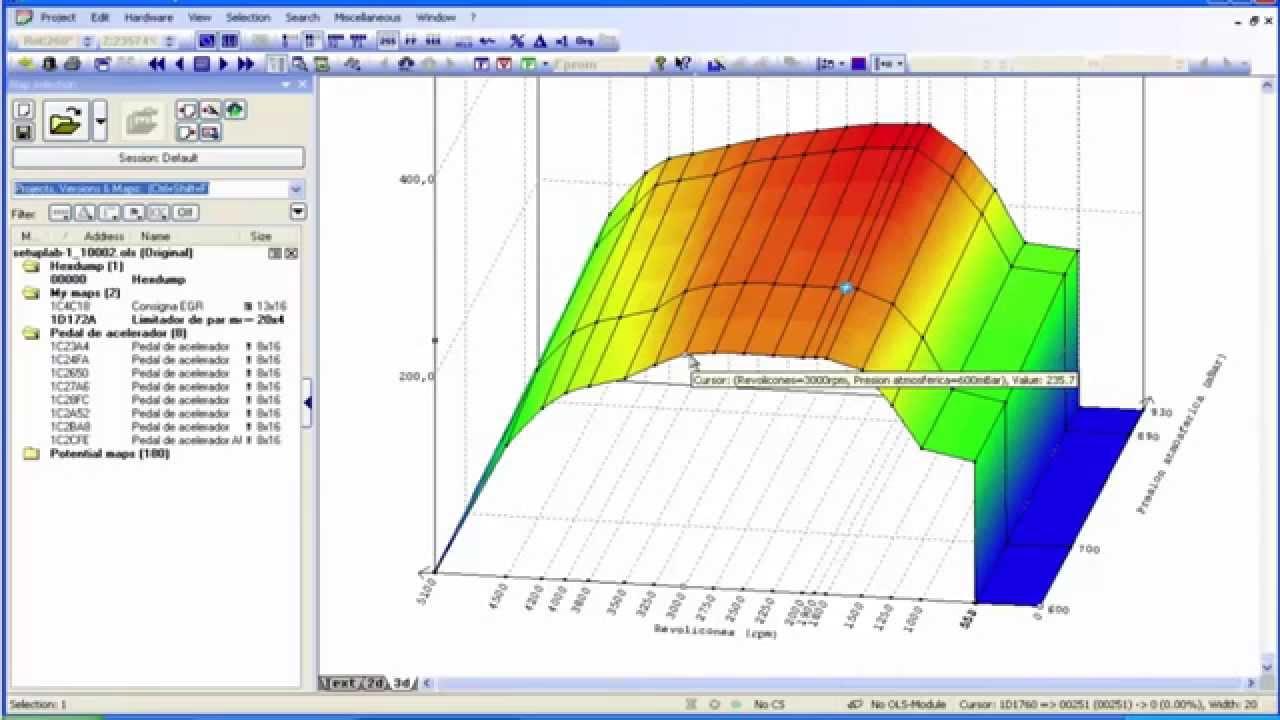 WinOLS Limitador de Par Ejemplo ECU EDC16
