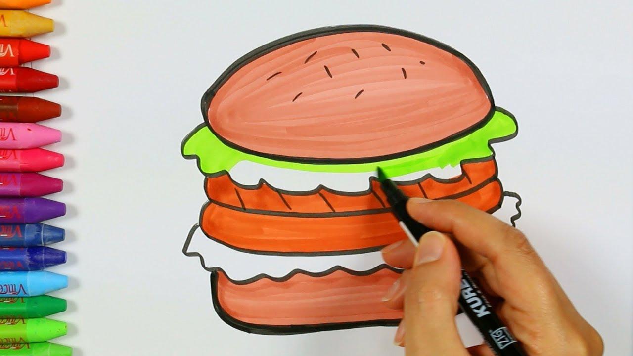 Hamburger çizimi Nasıl Yapılır Hamburger Nasıl çizilir çocuk Ve