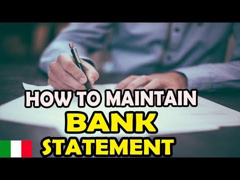 Bank Statement For Visa Application