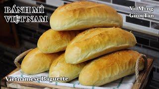 Bánh Mì vỏ giòn tan ruột xốp - Không phụ gia, không vĩ nướng, không bột 13% protein | Bếp Nhà Diễm |