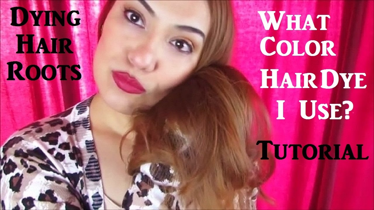 Dying Hair Roots Tutorial Loreal Excellence Creme 7 Youtube