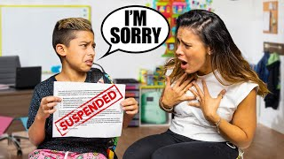 Telling My Parent's i Got SUSPENDED From SCHOOL!! | The Royalty Family