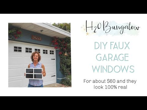 DIY Faux Garage Door Window Tutorial