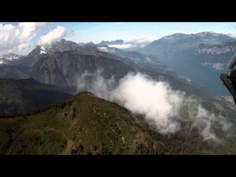 Second Diamond DA 20 C1 Eclipse flight over the Swiss Alps