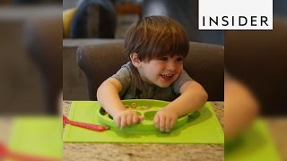 Suction placemat keeps kids from spilling their food