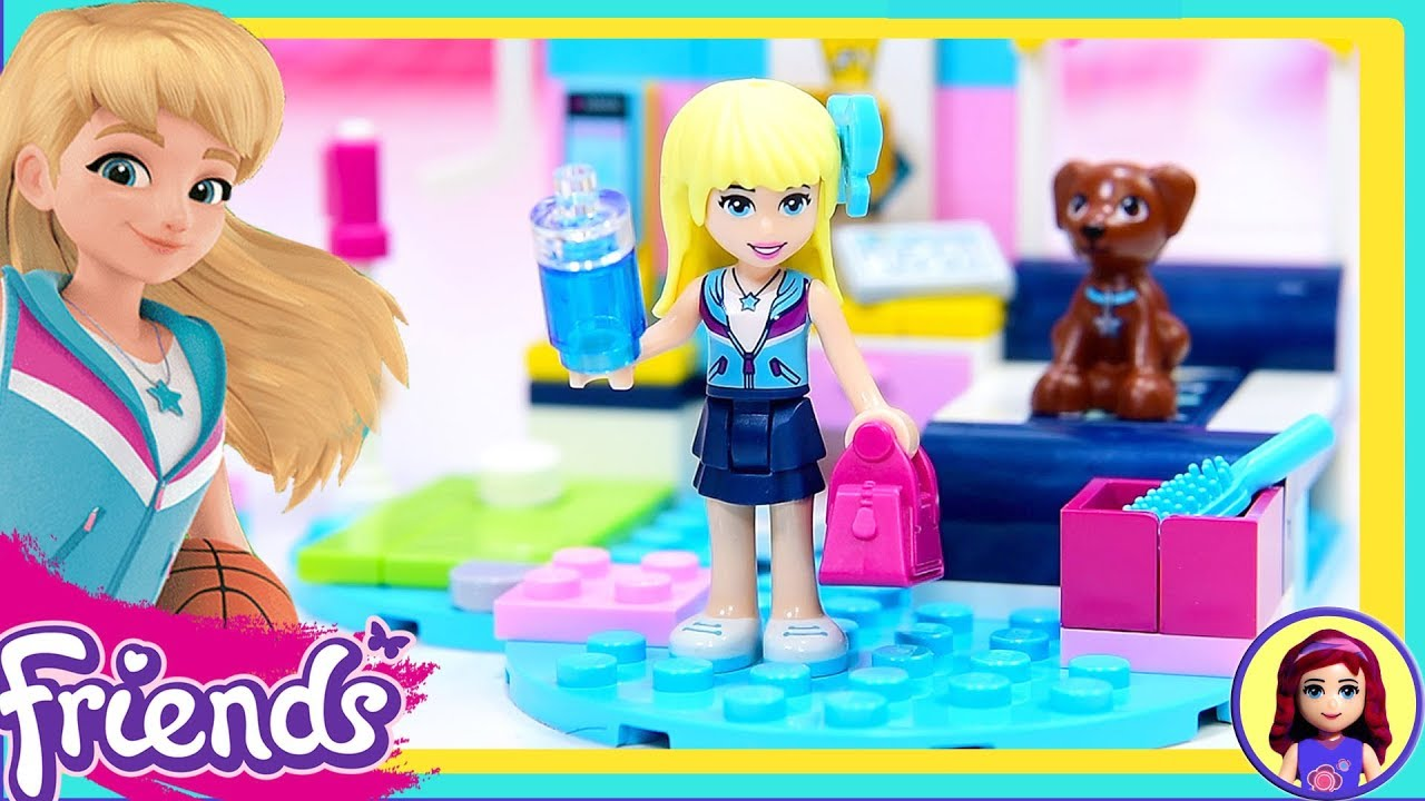 Room 2 Build Bedroom Kids Lego: Lego Friends Stephanie's Bedroom Build Review Silly Play