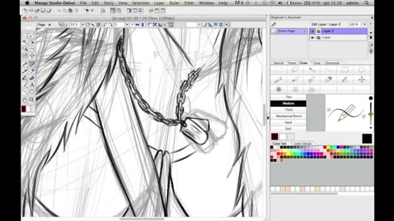 How To Draw Manga With Wacom Tablet  Second Video  Sir_shine  Speed  Drawing  Manga Studio