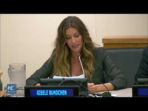 Gisele Bundchen speaks at UN on climate change