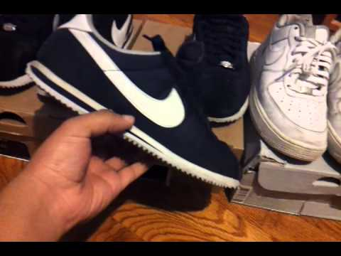 Two Nylon pairs of Nike Cortez and AF1's
